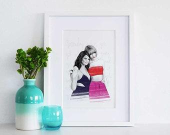 Taylor Swift and Selena Gomez Print