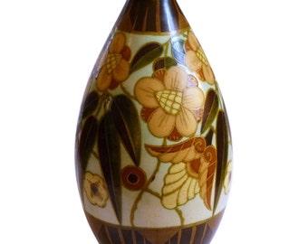 Belgian Boch Freres Ceramic Vase ca. 1930's