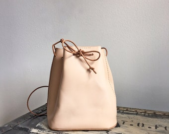 Handmade Bucket Bag - Natural Color - smaller size