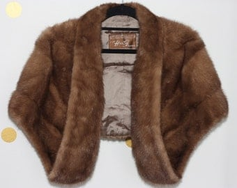 Brown vintage fur Shawl