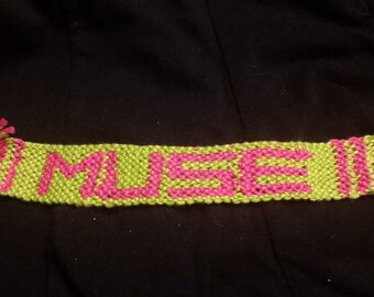 Muse Bracelet (Lime and Pink)
