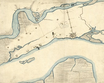 1782 Map of Saint Augustine Florida