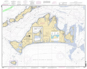 2011 Nautical Map of Martha's Vineyard