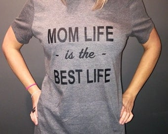 Mom Life is the Best Life ringspun cotton t-shirt