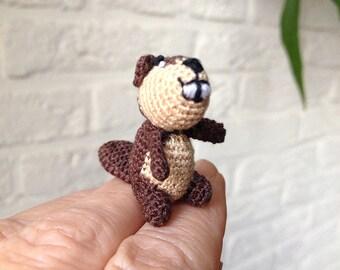 Tiny crochet Beaver