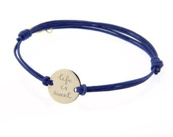 mamaloves personalised round bracelet