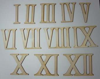 Wooden roman numerals / numerics 3 inch  high for handicrafts
