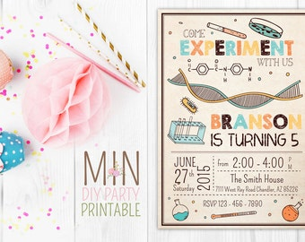 Science Invite,Mad Scientist Party, Mad Scientist Birthday, Science Birthday Invitation,Science birthday,science invitation,Science party