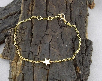 Bracelet asterisk Star Gold