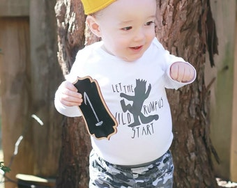 Where The Wild Things Are - Let the Wild Rumpus Start Bodysuit - Toddler Shirt - Baby Gift - Shower Gift - Baby Clothes - Storybook Theme