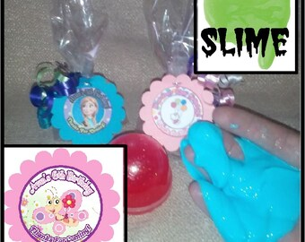 """Personalized Butterfly Surprise """"slime"""" Birthday Party Favors - set of 8"""