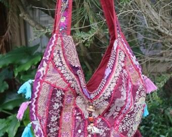 Indian Upcycled Sari Handbag