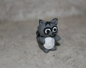 Mini Raccoon - polymer clay