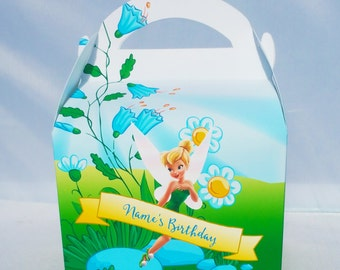 Tinkerbell Peter Pan Personalised Children's Party Box Gift Bag Favour