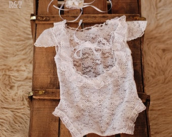 baby romper, newborn lace, lace romper, new romper, photography prop lace, newborn girl, photography prop RTS