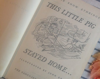 This Little Pig Stayed Home antique book