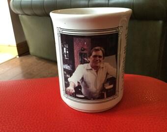 Coronation street memorabilia mug with Jack Duckworth on