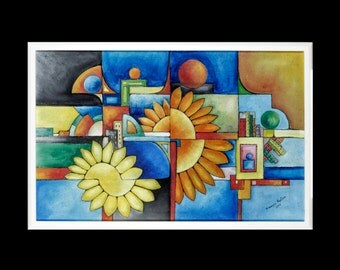 """Painting """"Flower in the Sun"""""""
