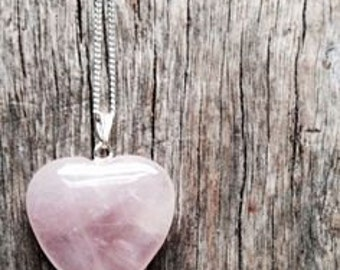 Rose Quartz |Heart Pendant Bridesmaid Gift | Gemstone Jewelry