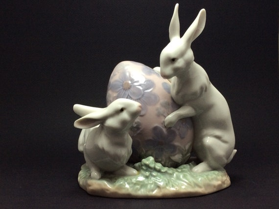 Lladro easter bunnies 5902 porcelain figurine - Consider including lladro porcelain figurines home decoration ...