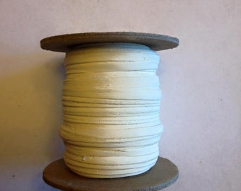 Deer skin lace 50ft spool 1/8in wide white