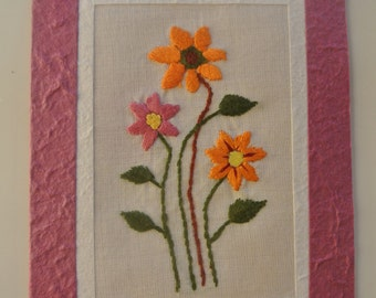 Handmade Embroidered Cards