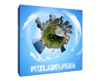 Philadelphia City Planets Canvas Print