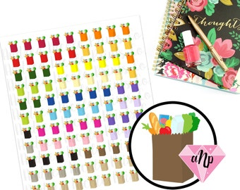 Printable Grocery Shopping Bag Planner stickers for ECLP MAMBI planner