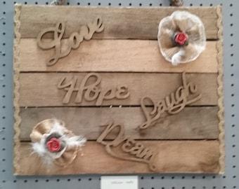 Hope and faith sign