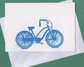 Blue Beach Cruiser - Blank Card