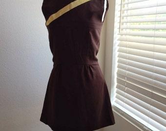 Brown Dress Cut Back