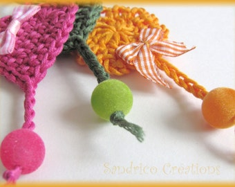 Handmade crochet cotton and accessories bag jewel textiles cheerful colors