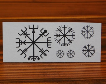 Temporary Tattoo/Icelandic Tattoo/Vegvisir Tattoo/Tattoo/Black Tattoo/Miniature Tattoos