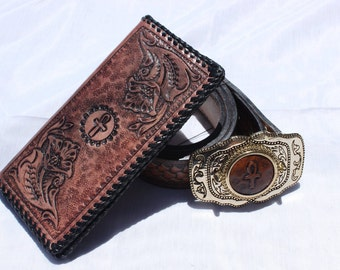 Ankh Belt & Wallet Set