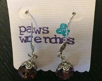 SALE* Plum drop earrings