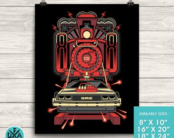 New Back To The Future Poster Art Print Matte Finish All Sizes