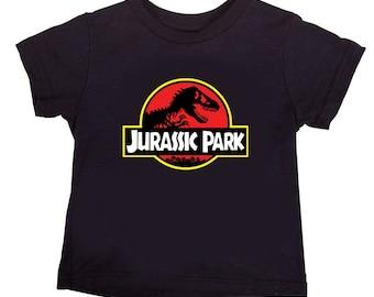 KIDS BOYS GIRLS Jurassic Park Full Colour Logo Movie Dinosaur Quality T Shirt