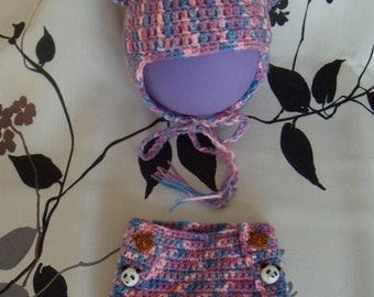 All Hat onesie for baby 0/3 months to hook