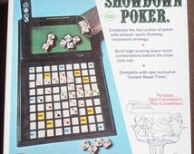 Showdown Poker game by E.S. Lowe - 1971 - Multiplayer, Two Player games - Poker Game - Poker