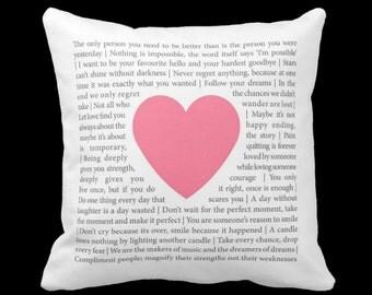 Words of Wisdom - Decorative Pillow, Throw Cushion, Pillow Cover, Decor, Throw Pillow, Cushion