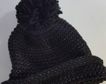 Black winter hat