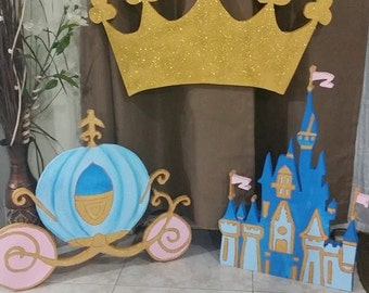 Cinderella Carriage, Crown and Castle