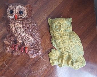 Vintage Owl Wall Hanings