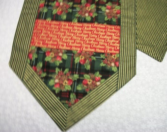 Green Plaid w/ Merry Christmas Table Runner