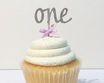 First birthday cupcake topper, silver cupcake topper, silver glitter toppers,purple cupcake topper, Sofia the first cupcake toppers,lavender