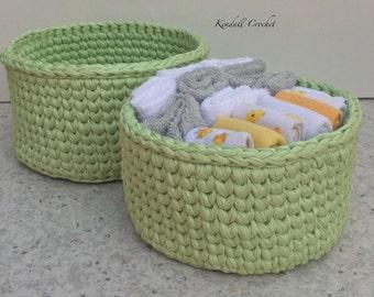 Crochet Baskets (2) Round