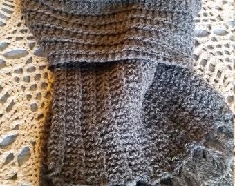 Medium Gray Wool Scarf