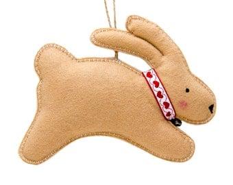 Felt Rabbit Decoration