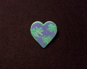 I Love Earth Pin