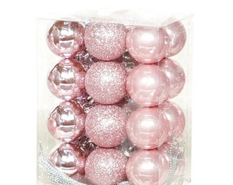24 Ornament Balls Christmas Tree Jewel Deco Tool